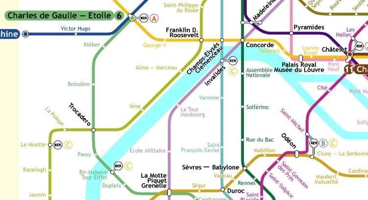 Mapa Tour Paris